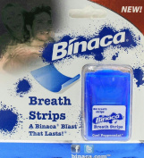 24 Count Binaca Breath Strips Cool Peppermint Freshens Long Lasting