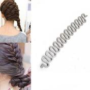Fashion Style Ponytail Curly Hair Braider DIY Twist Twister Braid Tool Magic French Hair Holder Clip Stick AOSTEK