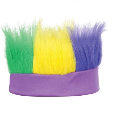 Beistle 60277-GGP Green, Gold, Purple Hairy Headband