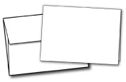 13cm X 18cm Heavyweight Blank White Greeting Card Sets - 40 Cards & Envelopes