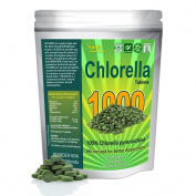 Chlorella Tablets (Mega-pack 1000 tablets). Organic, raw, non-GMO. 100% Pure Green Algae Chlorella Pyrensoidosa. Most Powerful Green Superfood Supplement known. Cell walls crushed and broken to micronize nutrients for best absorption in your body. Comp ..