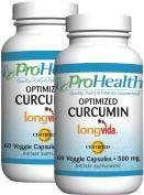 Optimised Curcumin Longvida by ProHealth (500 mg, 60 capsules) - 2 Pack