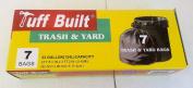 Tuff Built Trash & Yard Bags 124.9l.. 0.6m x 0.9m x 0.45 MIL.. 7 Bags.