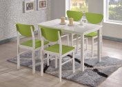 Kings Brand Vanilla White / Antique Green Finish Wood Side Chair ~Set of 4 Chairs~