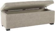 Safavieh Hudson Collection Williamsburg Grey Linen Storage Bench, Large