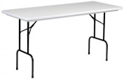 Correll RS3072 Blow Moulded Plastic Standing Height Top Folding Table, Rectangular, 80cm Width x 180cm Height, Grey Granite