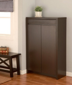 Enitial Lab Zoe 5-Shelf Shoe Cabinet with Drawer, Cappuccino