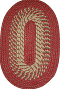 Plymouth 50cm x 80cm Braided Rug in Barn Red