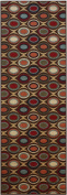 Rubber Collection Roundways Multi-Colour Printed Slip Resistant Rubber Back Latex Contemporary Modern Area Rugs and Runners (1191)