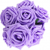 10pcs Classic White Purple Pink Lvory Beige Rose Flowers for Wedding Bridesmaid Bridal Bouquet