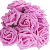 10pcs Classic White Purple Pink Lvory Beige Rose Flowers for Wedding Bridesmaid Bridal Bouquet