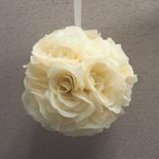 Pomander Flower Balls Wedding Centrepiece, 15cm , Ivory