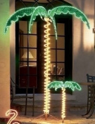 "2.1m High ""LED"" Lighted Tropical Palm Tree - 5 Times Brighter than Incandescent Bulbs"