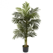 Nearly Natural 5358 Golden Cane Palm Tree, 1.5m, Green