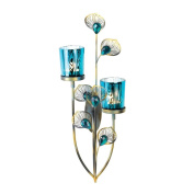 Exotic Peacock Plume Wall Sconce
