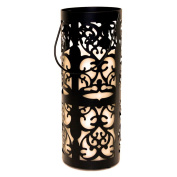 Everlasting Glow LED Indoor/Outdoor Lantern And LED Candle, Timer, Bisque, 13cm x 32cm