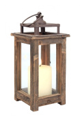 Stonebriar Decorative Wooden Candle Lantern, Use As Decoration for Birthday Parties, a Rustic Wedding Centrepiece, or Create a Relaxing Spa Setting, For Indoor or Outdoor Use, Small