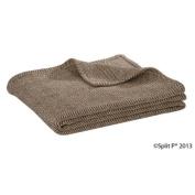 Brown Herringbone Throw Blanket