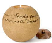 Pavilion Gift Company Comfort Candles 13cm Round Candle Holder, Family