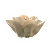 Two's Company La Vie en Blanc Rose Tealight Candle Holder, Porcelain