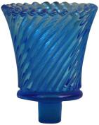 Brass & Silver Traditions Pegged Swirl Votive Glass, Blue