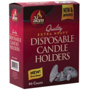 Disposable Aluminium Candle Holders - 50 Count