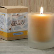 Bluecorn Naturals 100% Pure Raw Beeswax 240ml Glass Candle