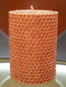 50 Hour-10cm Natural Beeswax Hybrid Pillar Glitter Candle, Copper