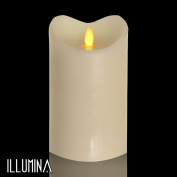 Modern Home Illumina Flameless Pillar Candle w/Moving Wick - 18cm Ivory