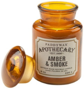 Paddywax Candles Apothecary Collection Glass Jar Candle, 240ml, Amber and Smoke
