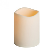 Everlasting Glow LED Indoor/Outdoor Candle, Timer, Bisque, 12cm x 15cm