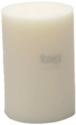 Tag 100074 10cm by 15cm Unscented Long Burning Pillar Candle, White