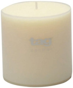 Tag 100073 10cm by 10cm Unscented Long Burning Pillar Candle, Ivory