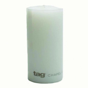 Tag 100064 7.6cm by 15cm Unscented Long Burning Pillar Candle, White