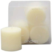 Tag 10053 Set of 4 5.1cm by 5.1cm Unscented Pillar Candle, Ivory