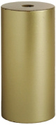 Tag 201708 Unscented Long Burning 7.6cm by 15cm High Quality Pillar Candle, Metalic Gold