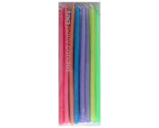 TAG Birthday Cupcake / Cake Party Candles (Mini Tapers), Set of 24 18cm Tall , Assorted Colours
