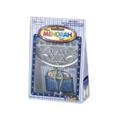 Rite-Lite Judaica Mini Aluminium Menorah includes Mini Candles