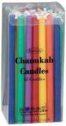 Rite-Lite Judaica Deluxe Chanukah Candles, Multicolor. Box of 45`