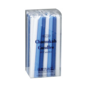 Rite-Lite Judaica Deluxe Blue & White 12cm Chanukah Candles, Box of 45