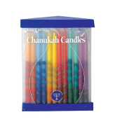 Rite Lite Judaica Premium Chanukah Candles Hand Crafted Rainbow coloured. Box of 45