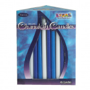 Rite-Lite Judaica Deluxe Multicolor Chanukah Candles, Box of 45