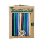 Rite-Lite Judaica Vegetable Wax Chanukah Candles in a Recycled Paper Box. Box of 45 Candles