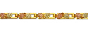 Landstroms Classic Black Hills Gold Bracelet with Pairs of Leaves - P700