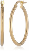 14k Yellow Gold Italian Hoop Earrings