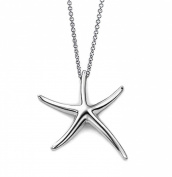Starfish Pendant Necklace Sterling Silver .925 Designer Style 41cm - 46cm Inches