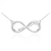 925 Sterling Silver BFF Best Friends Forever Infinity Necklace with Chain