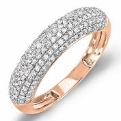 0.50 Carat (ctw) 14K Gold Round Diamond Ladies Anniversary Wedding Band 1/2 CT