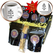cgb_157704_1 InspirationzStore Typography - Keep Calm and Cycle on - carry on cycling - gift for cylists - bicycle - fun funny humour humorous - Coffee Gift Baskets - Coffee Gift Basket
