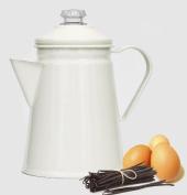 Retro Enamel Stove Top 1L Coffee Perculator in Champagne colour